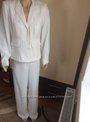 Белый брючный костюм USA