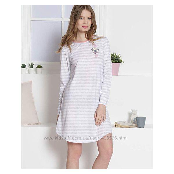 Ночная рубашка с длинным рукавом, байковая сорочка с начесом, хлопок.