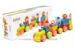 Детский деревянный конструктор Cubika Кубика. Деревянные эко игрушки