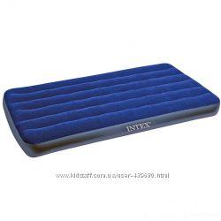 Матрас надувной Intex арт. 68757. Одноместный матрас комфортный для отдыха
