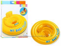 Надувной плавательный круг плотик Intex интекс для детей