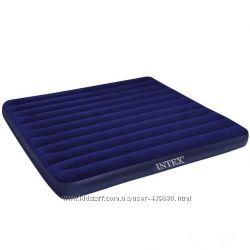Матрас велюровый двухместный надувной Intex арт. 68755.