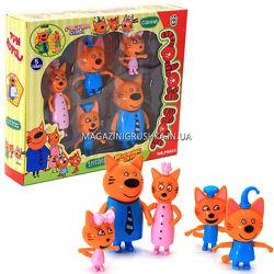 Детский игровой набор фигурок Три кота. Счастливая семья, 5 фигурок PS653