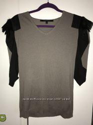 Стильная кофта свитер из шерсти с натуральным мехом Pespective р. М оригина