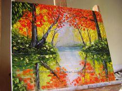 Картина маслом Золота осінь 50х40