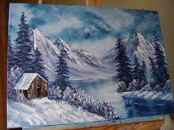 картина маслом Зимова казка 70х50