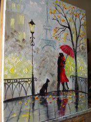картина маслом Париж для двох 50х60