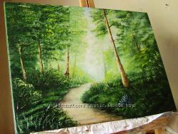 картина маслом Ліітній пейзаж 50х70