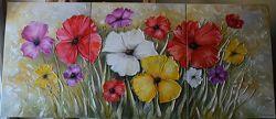 Картина маслом Квіти 140х60