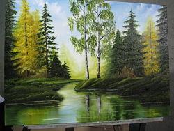 картина маслом Осінній ліс 50х70