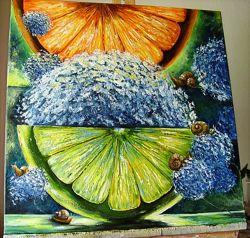 картина маслом Мохіто 60х60