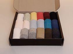 Набор женских носков сетка 18 пар - короткие, в подарочной коробке