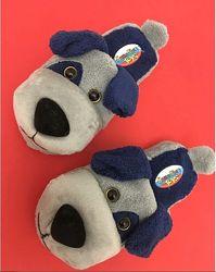 Детские мягкие тапочки игрушки собачки на мальчика, размеры 28-35