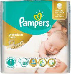 Акция Подгузники Pampers Premium Care 1-88, 2-80, 3-60, 4-52, 5-44