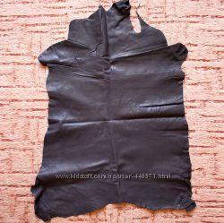 Натуральная кожа, цвет черный, толщина 0, 4-0, 7