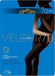 Плотные непрозрачные колготки Omsa Velour 70 den