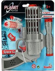 Лазерный бластер Simba Космический солдат 16 см 8040735