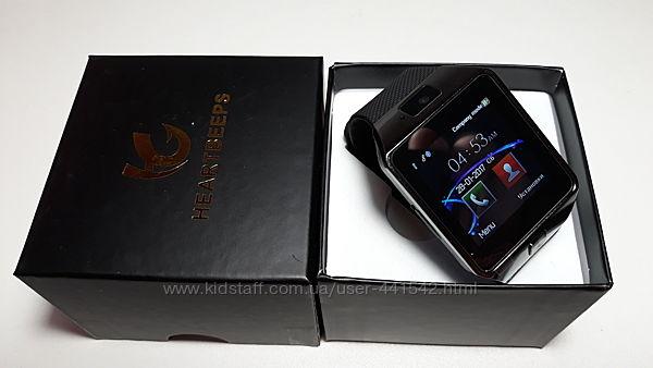 Смарт часы телефон Smart Watch DZ09 с поддержкой сим-карт в коробке