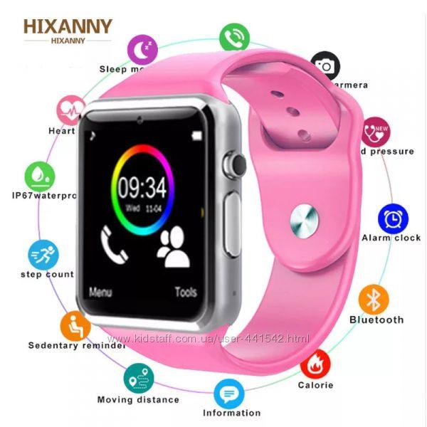 Умные часы UWatch A1 apple watch copy - розовые новые дешево