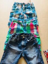 Удлинённые шорты H&M, Crazy8.  -5-6-7 лет