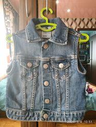 Джинсовый пиджак жилетка