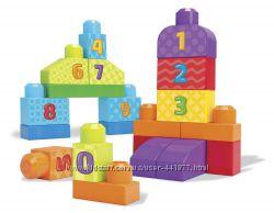 Конструктор Mega Bloks 1-2-3 с цифрами 20 деталей Строй и учись считать