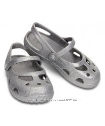 очень красивые серебристые Crocs Silver Shayna Hi Glitter Mary Jane с4
