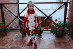 Шикарное пальто с меховым  воротничком Miss Blumarine
