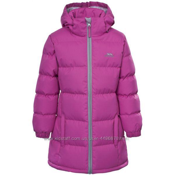 Теплое зимнее пальто Trespass для девочки  замеры на фото