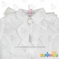 Школьная блузка Sasha 122 размер, белоснежная