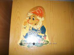 Вешалка деревянная Гном детская