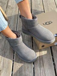 Женские серые угги Ugg Australia Mini Grey
