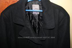 Стильное шерстяное пальто, большого размера