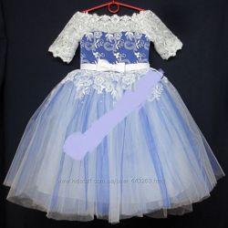 Нарядные праздничные бальные платья для девочек 5-6 лет