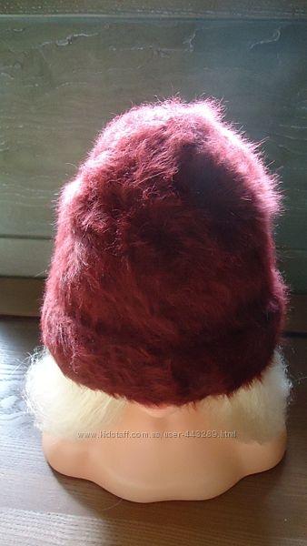 Теплая шапка из ангоры недорого