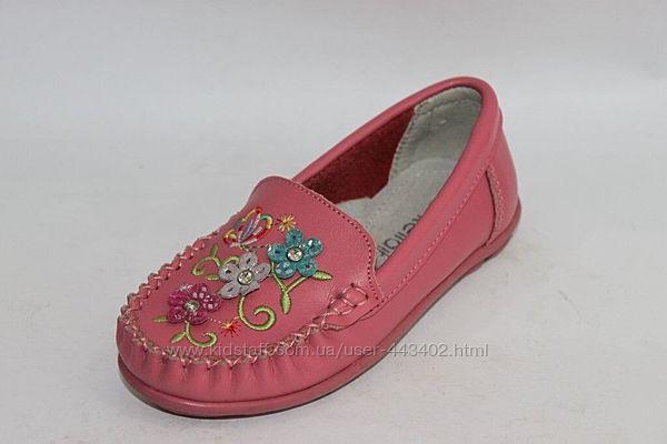 Туфельки мокасины на девочку Kellaifeng. Размер 30