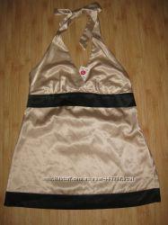 Новая атласная нарядная женская блуза New Look, 12 размер