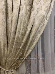 Шикарные шторы и тюль в классическом стиле. Цена снижена.