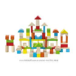 Кубики, набор строительных блоков Viga Toys Город 80 шт.