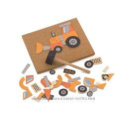 Набор для творчества 3 вида Viga Toys Строительная техника