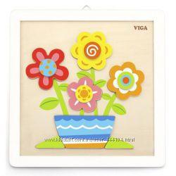 Деревянные наборы для творчества разукрась с красками Viga Toys, 4 вида