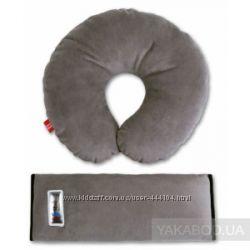 Комплект дорожный для сна 2 цвета, подушка и крепление на ремень