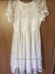 Белое платье для беременной разм М
