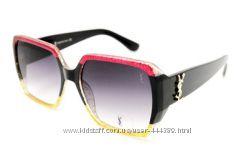 Женские очки черные YSL квадратные