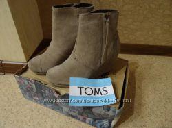 Замшевые ботинки Toms 36 23 см стелька