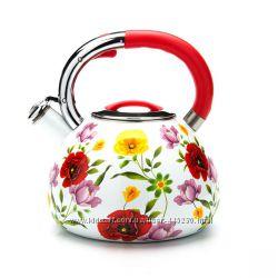 эмалированный чайник со свистком 3, 5л