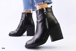 Деми 2020. Ботинки каблук 9, 5 см. Черный, графит , марсала Цвета