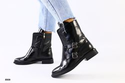 Деми 2020.  Женские ботинки Нап Лак с пряжками. Люкс Эксклюзив