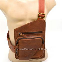 02cbb2f39584 Стильный мужской мессенджер или рюкзак на моношлейке из натуральной кожи