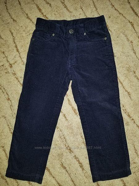 Вельветовые брюки на мальчика 2-3 года